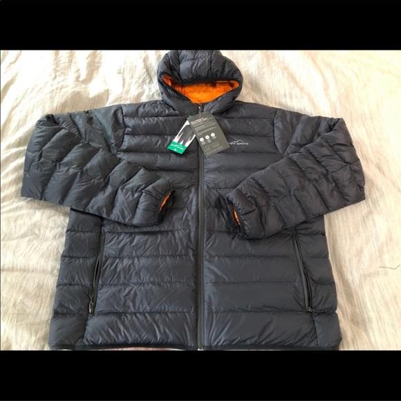 eddie bauer cirruslite down hooded jacket